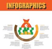 Prozessschritt Infographics stockfoto
