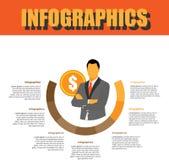Prozessschritt Infographics lizenzfreie stockfotos