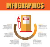 Prozessschritt Infographics lizenzfreies stockbild