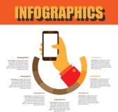 Prozessschritt Infographics lizenzfreies stockfoto