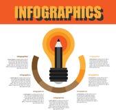 Prozessschritt Infographics lizenzfreie stockfotografie