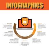 Prozessschritt Infographics lizenzfreie stockbilder