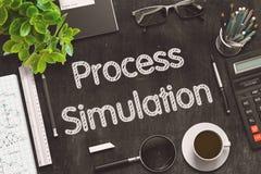 Prozesssimulation auf schwarzer Tafel Wiedergabe 3d Lizenzfreie Stockbilder