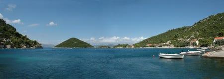 Prozura, Mljet island, Croatia. Panoramic view of Prozura bay Royalty Free Stock Images