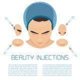 PRP facial treatment for men Stock Images