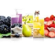 Préparation de boissons de fruit Images stock