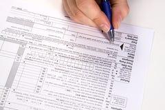 Préparation des impôts Photos libres de droits