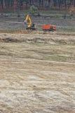 Préparation du chantier de construction Photos stock