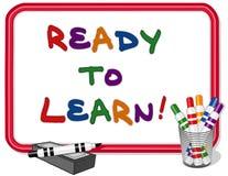 Préparez pour apprendre Whiteboard Photo libre de droits