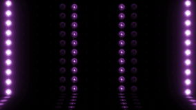 púrpura del LAZO de la exploración horizontal 4K de la etapa de la bombilla 3d almacen de metraje de vídeo