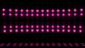 púrpura del LAZO de la exploración vertical 4K de la etapa de la bombilla 3d almacen de metraje de vídeo
