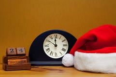 Près du minuit le réveillon de Noël Images libres de droits