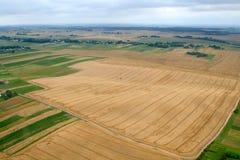 Prés et zones. Image aérienne. Images stock