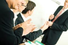 Présentation d'affaires : réussite Photos stock