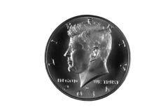 Präsident Kennedy Silver Half Dollar Stockfoto