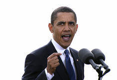 Präsident Obama in Prag Lizenzfreies Stockfoto