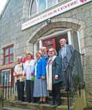 Präsident von Besuchen Aberdeen der unitarischen Kirchen Lizenzfreies Stockfoto