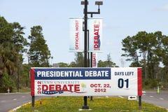 Präsidentendebatte Stockfotografie