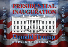 Präsidenteneinweihung Vereinigter Staaten Stockbild
