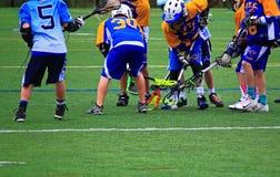 Prática da lacrosse do menino Imagem de Stock