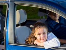 Prática das artes marciais de Drives Daughter To do pai Fotos de Stock