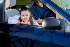 Prática das artes marciais de Drives Daughter To do pai Imagens de Stock