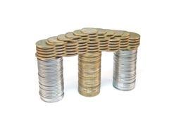 Pórtico de monedas Foto de archivo libre de regalías