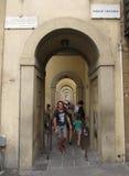 Pórtico perto de Ponte Vecchio em Florença Fotos de Stock