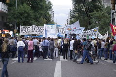 Prtotest in Cordoba, Argentinien Lizenzfreie Stockfotografie
