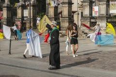 Prêtre de danse Images libres de droits