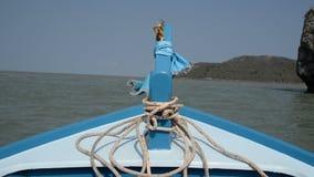 Prua della barca del longtail archivi video