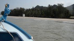 Prua della barca del longtail video d archivio