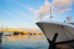 Prua di lusso dell'yacht Fotografia Stock Libera da Diritti