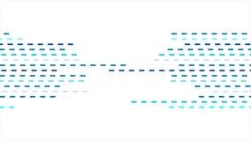 Prucken abstrakt geometrisk blått fodrar den videopd animeringen stock video