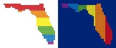 Prucken Florida för spektrum PIXEL översikt vektor illustrationer