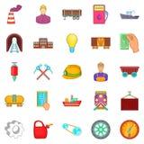 Prudence icons set, cartoon style. Prudence icons set. Cartoon set of 25 prudence vector icons for web isolated on white background Royalty Free Stock Photo