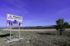 Free Prudence Photographers Street Sign In France Stock Photos - 106849193