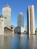 Prudential Center. And The Christian Science Church Park, Boston, USA Stock Photos
