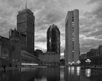 Prudential center. Boston MA black and white Stock Image
