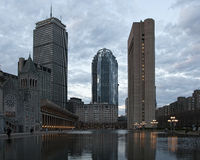 Prudential center. Boston MA at dusk Stock Photography