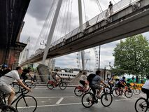 People riding bikes in London - Prudential RideLondon Freecycle 2019