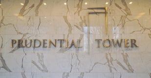 3, 2017 Prudential wierza w Boston, BOSTON MASSACHUSETTS, KWIECIEŃ -, - zdjęcia royalty free