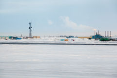 Prudhoe Bay Infrastructure Royalty Free Stock Images