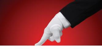 Prueba blanca del guante Fotografía de archivo