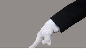 Prueba blanca del guante Imágenes de archivo libres de regalías