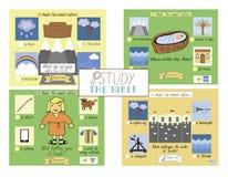Prueba de 4 biblias para los niños ilustración del vector