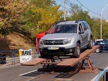 Prueba de conducción de Dacia Duster Fotos de archivo libres de regalías