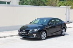 Prueba de conducción de la versión 2014 de Mazda3 JDM Japón Imágenes de archivo libres de regalías