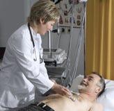 Prueba de EKG Imágenes de archivo libres de regalías