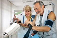 Prueba de EKG fotografía de archivo libre de regalías